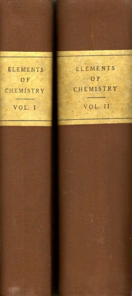 Elements of Chemistry in the Order of Lectures Given in Yale College. Benjamin Silliman, Pharmacy Professor of Chemistry, Mineralogy and Geology.
