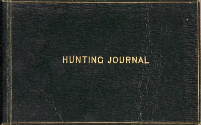 English Hunting Journal Season 1917-1918. From Weeclon. G F. D. Wade.