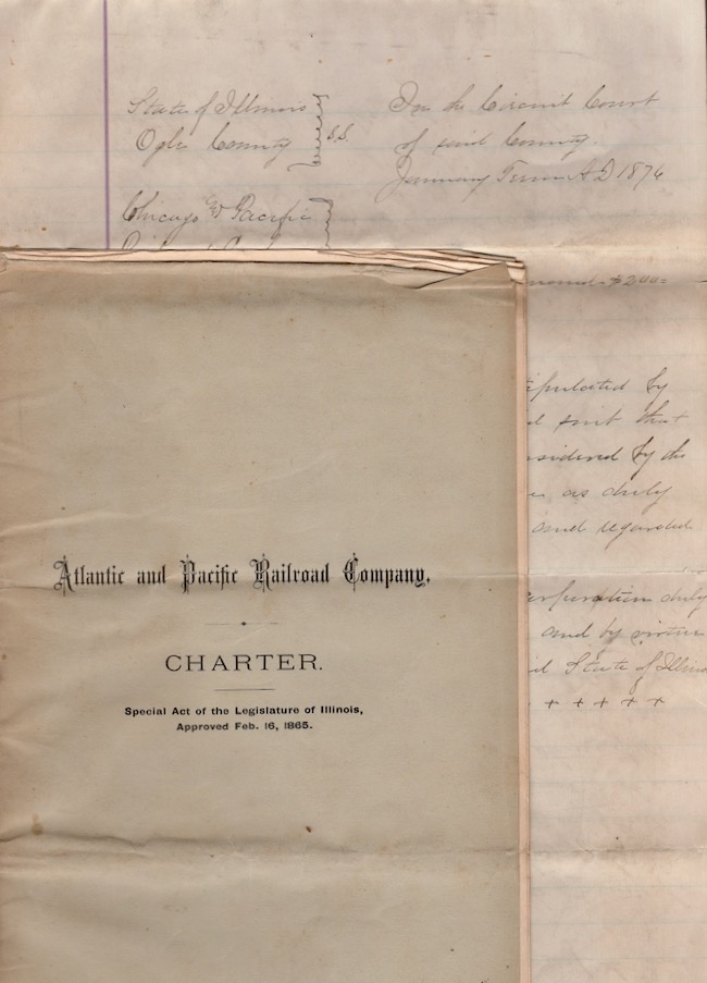 Atlantic and Pacific Railroad Company. Charter. Special Act of the Legislature of Illinois, Approved Feb. 16, 1865. Atlantic Pacific Railroad Company.