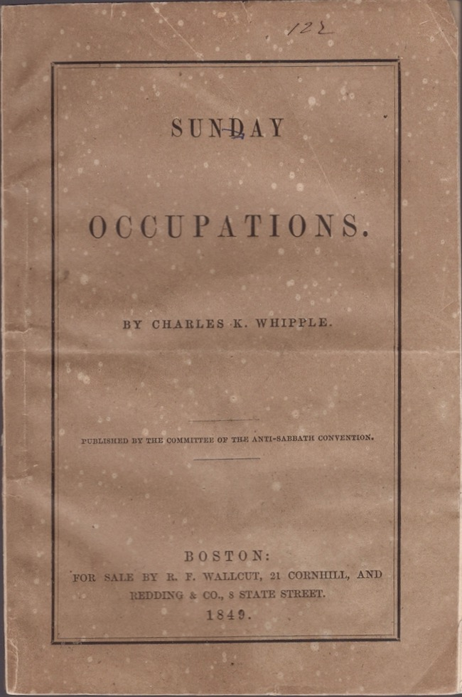 Sunday Occupations. Charles K. Whipple.