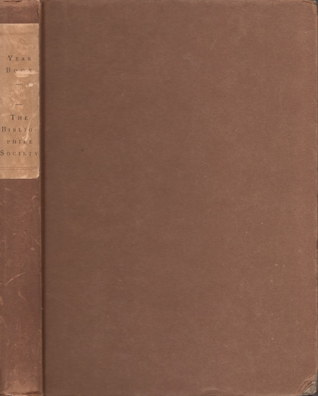 The Seventh Year Book 1908. Bibliophile Society.