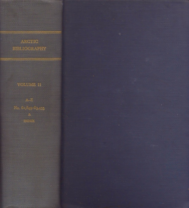 Arctic Bibliography: Volume 11. Marie Tremaine.