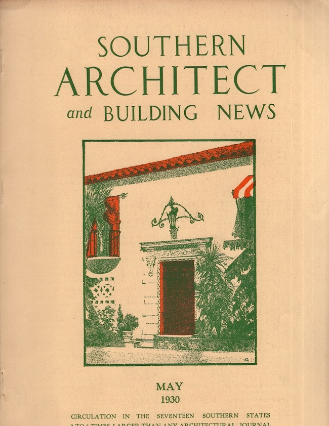 Southern Architect News. Misc. Lot of 8 issues from May 1930- December 1931. E. R. Denmark.
