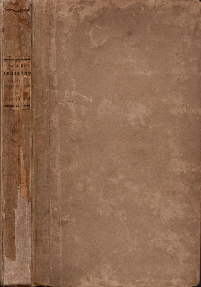 A Genealogical Register of the First Settlers of New-England. John Farner.