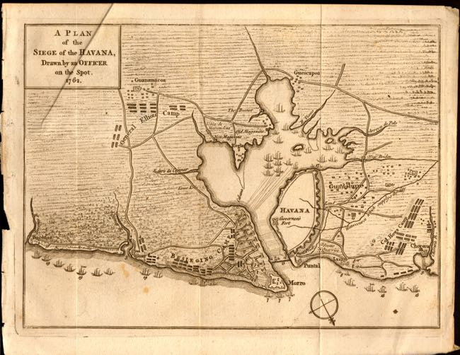 """A Plan of Siege of the Havana, Drawn by an Officer on the Spot. 1762."" Anon."