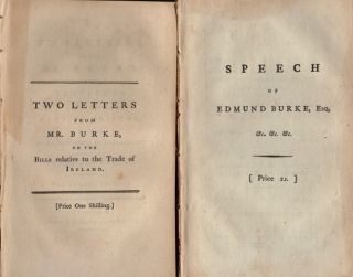 Five Speeches and Letters by Edmund Burke. Published separately.