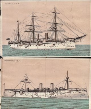 A Naval Scrapbook. Circa late 1800s, early 1900's. Richard Hooker