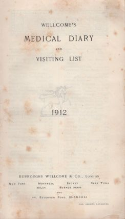 Wellcome's Medical Diary and Visiting List 1913. Burroughs Wellcome, Co