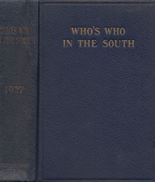 Who's Who in the South. Inc The Mayflower Company.