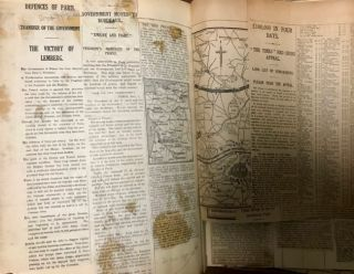 1914 World War I English Newspaper Scrapbook