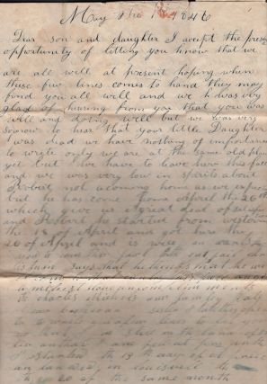 1846-1866 Carpenter Family Correspondence from Missouri and Kentucky. Including Domestic Life in...