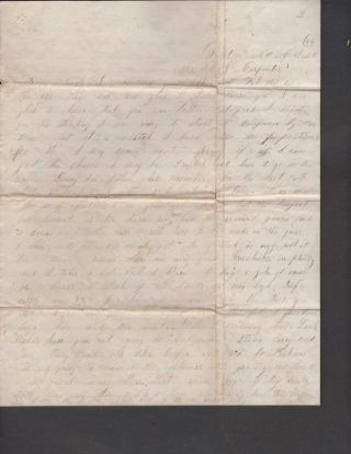 1846-1866 Carpenter Family Correspondence from Missouri and Kentucky. Including Domestic Life in Missouri during the Civil War.