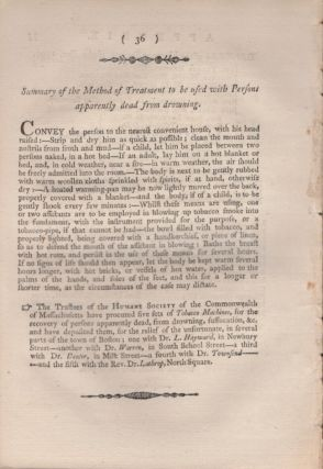 A Discourse Delivered Before The Humane Society of the Commonwealth of Massachusetts, At Their Semiannual Meeting, June 14th, 1796