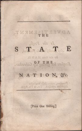 The State of the Nation, With A General Balance of the Public Accounts. John Carteret