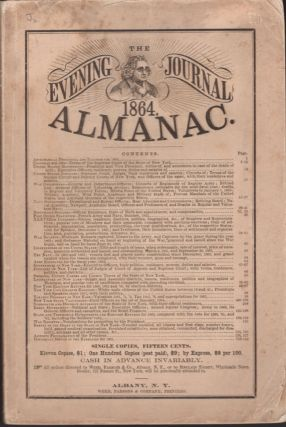 The Evening Journal Almanac 1864. Albany Evening Journal