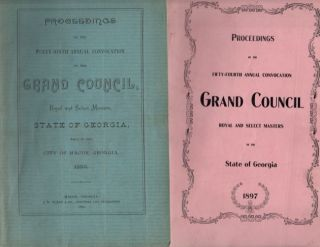 1892-1934 Misc. Lot of 25 Proceedings of the Grand Council. Royal and Select Masters, State of...