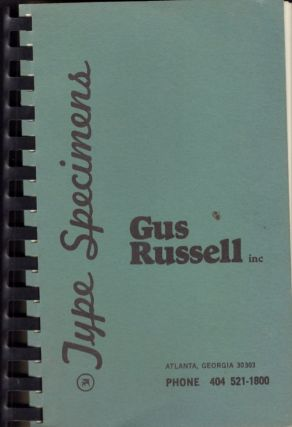 Type Specimens. Gus Russell inc