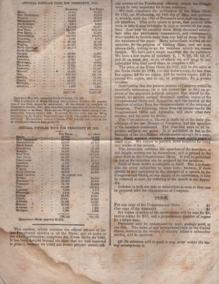 Extra Globe. Friday, January 29, 1841.