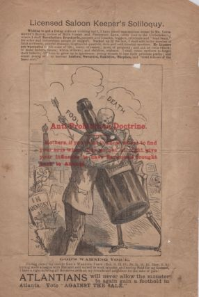 "Two broadsides, approx. 10.5"" x 7"", illustrating the dangers of alcohol with a red overlay stamp..."