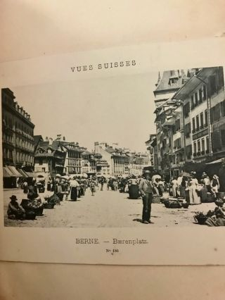 Vintage Swiss and English Travel Album with original titled photographs, color photographs,...