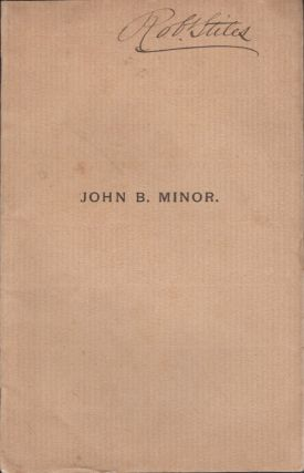 John B. Minor. James C. Lamb