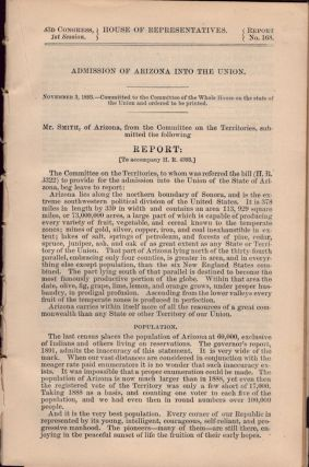 Admission of Arizona into the Union. Mr. Smith, of Arizona, from the Committee on the...