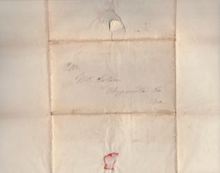 Amos Kendall Autograph Page [AND] 1836 Post Office Department Document with Typed Printed Name of Amos Kendall Postmaster General
