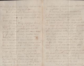 "December, 1865 letter from San Francisco: ""Tis now almost time for the boy to take upon himself the duty of a man"""