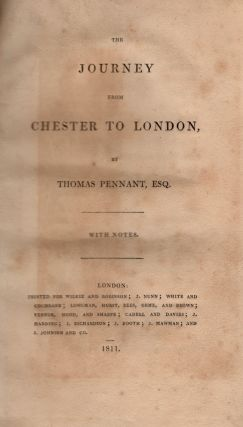 The Journey from Chester to London. Thomas Pennant