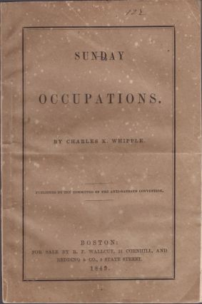 Sunday Occupations. Charles K. Whipple