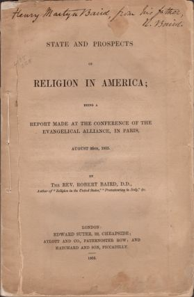 State and Prospects of Religion in America; Being A Report Made at the Conference of the...