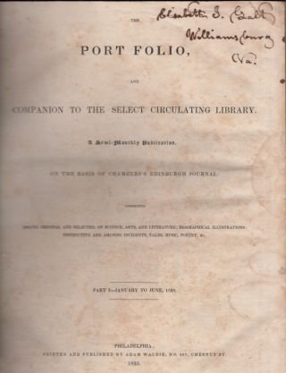 The Port Folio, and Companion To The Select Circulating Library