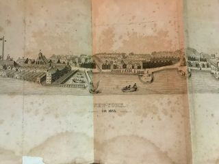View of the City of New-Orange, (Now New-York,) As It Was in the Year 1673.