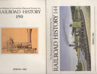 Railroad History. 4 issues: October 1971, Spring 1980, Spring 1981, Spring 1984
