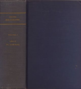 Arctic Bibliography: Volume 2. Marie Tremaine