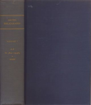 Arctic Bibliography: Volume 7. Marie Tremaine