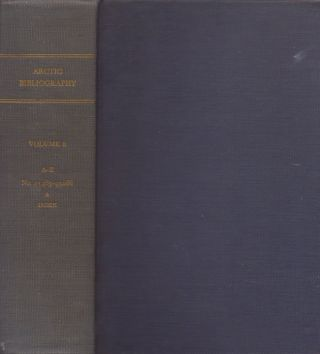 Arctic Bibliography: Volume 8. Marie Tremaine