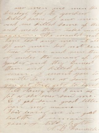 Confederate soldier's February 1, 1862 reply to Mr. E Ward, Rock Island, Tennessee while camped at Pocotaligo, near Yemassee South Carolina