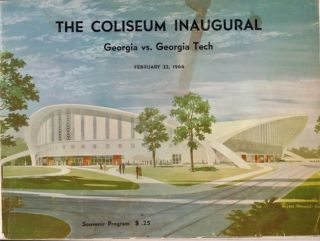 The Coliseum Inaugural Georgia vs. Georgia Tech February 22, 1964. University of Georgia