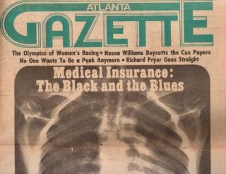 Atlanta Gazette March 24, 1978. Atlanta Gazette, Rich O' Neill