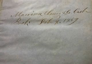 A. P. Morrison & Sons [AND] Morrison, Cheney & Company 1842-1870 Account Ledgers from Peterborough, New Hampshire. Books, Straw, Stamps, and Goods Sold, Debts Due, Expenses Recorded.