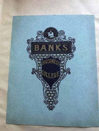 Ca. 1910 Two large scrapbooks of Banks Business College, Philadelphia Pa. Marketing, Brochures,...