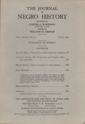 The Journal of Negro History. Vol. XXXIX, No. 3 July 1954. William M. Brewer