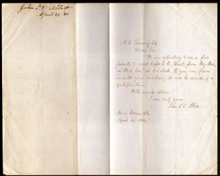 Civil War era signed letter from John S. C. Abott (1805-1877) American Clergyman and Author. John...
