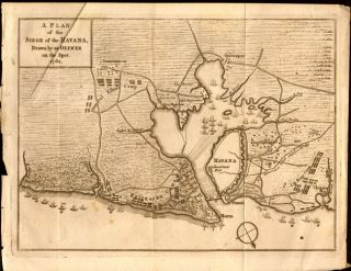 """A Plan of Siege of the Havana, Drawn by an Officer on the Spot. 1762."" Anon"